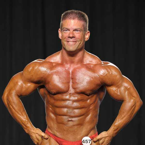 Jason Compton, the owner of Compton Lawn Care in bodybuiding competition